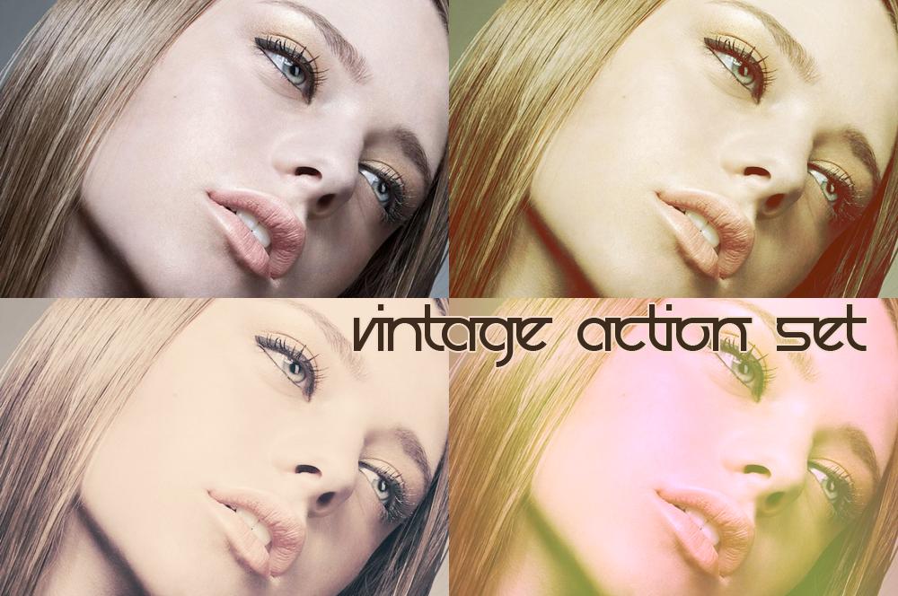 Vintage action set 3 by beckasweird