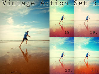 Vintage action set 5 by beckasweird