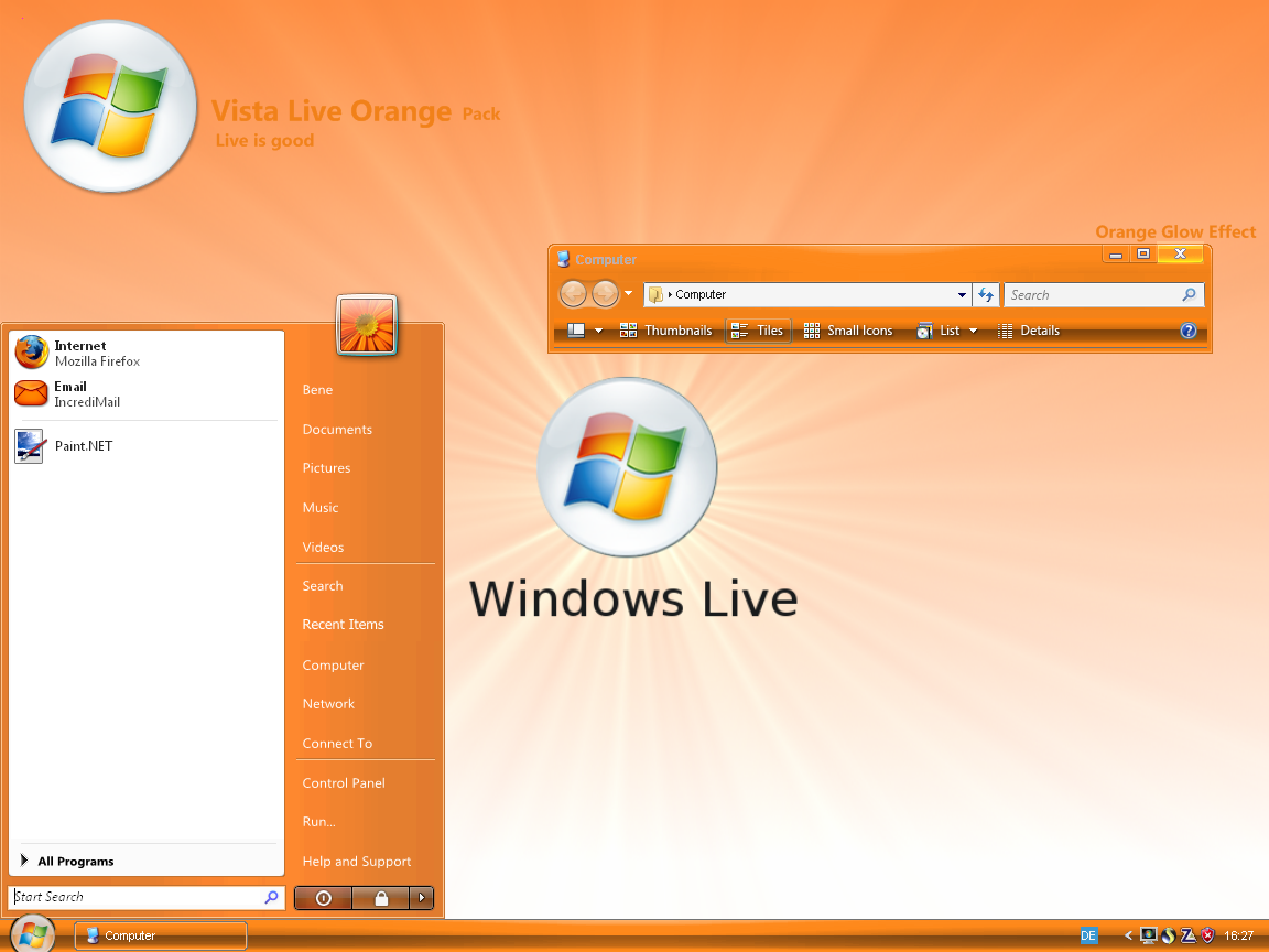 Vista Live Orange by Bush1do