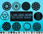 17 Free Circle Brushes! *Eva Baxter Designs*