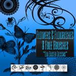 Flowers And Flourishes: 8 Free Brushes