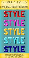 FREE PHOTOSHOP STYLES -- EVA BAXTER DESIGNS