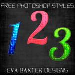 EVA BAXTER DESIGNS -- 3 DOTTY STYLES