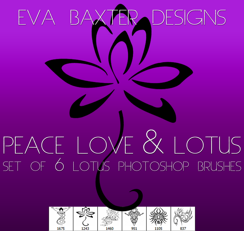 EVA BAXTER DESIGNS -- 6 FREE LOTUS BRUSHES by EvaTakesNoPrisoners