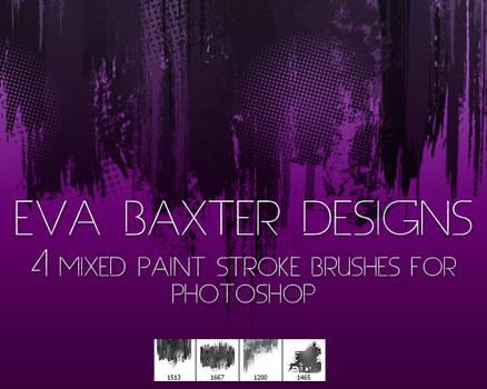 EVA BAXTER DESIGNS -- MIXED ROUGH BRUSH PS BRUSHES