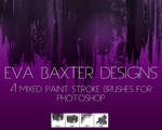 EVA BAXTER DESIGNS -- MIXED ROUGH BRUSH PS BRUSHES