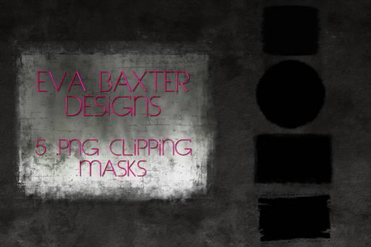 EVA BAXTER DESIGNS -- 5 GRUNGY CLIPPING MASKS