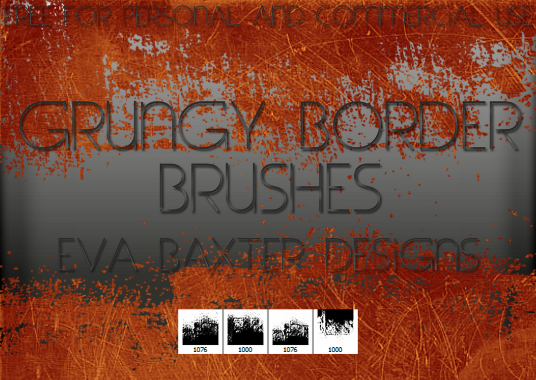 EVA BAXTER DESIGNS - 4 BORDER BRUSHES FOR PS by EvaTakesNoPrisoners