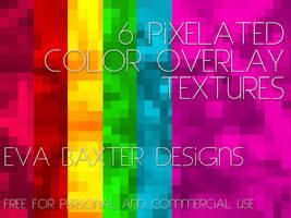 EVA BAXTER DESIGNS - PIXELATED OVERLAY TEXTURES by EvaTakesNoPrisoners