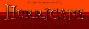 Eva Baxter Designs - Hurricane Text Style