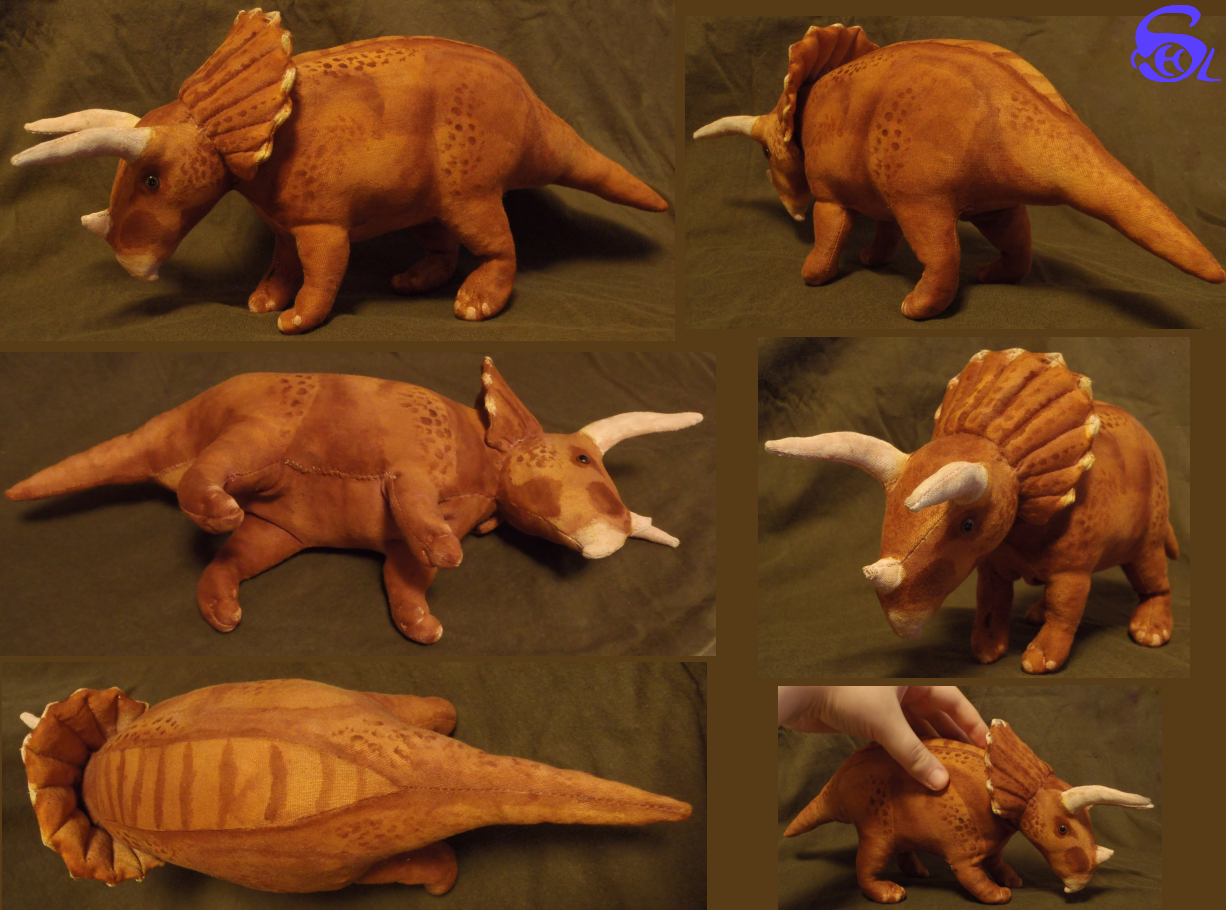 Triceratops plushie patterns by IsisMasshiro