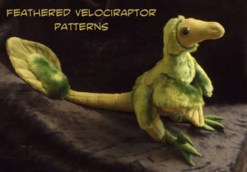 Feathered velociraptor-plushie PATTERNS by IsisMasshiro