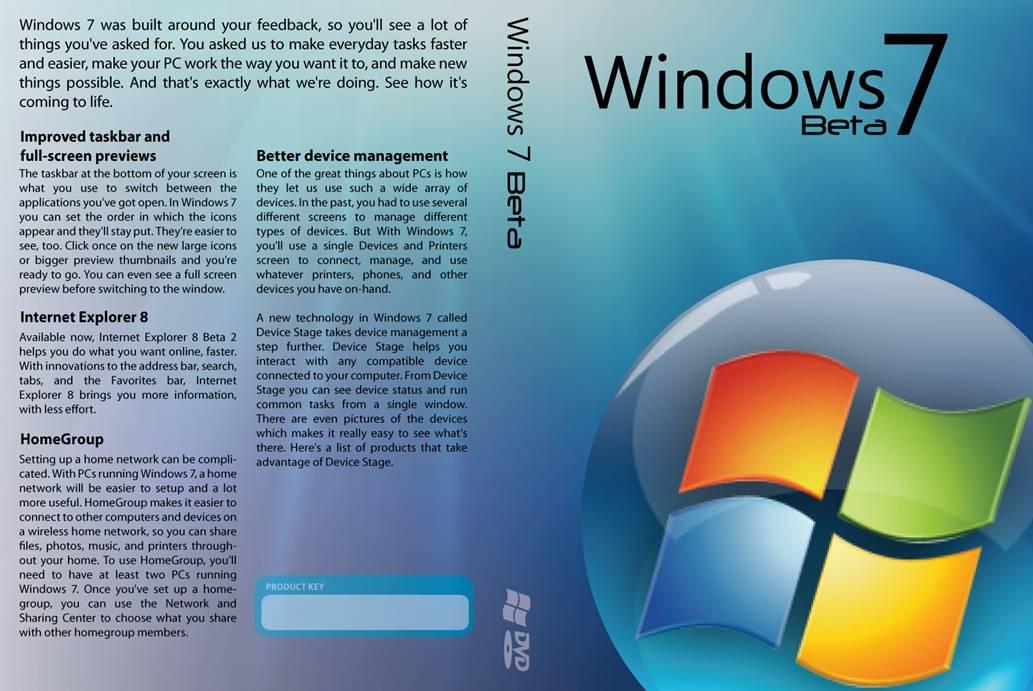 Windows 7 DVD Case by David28227 on DeviantArt