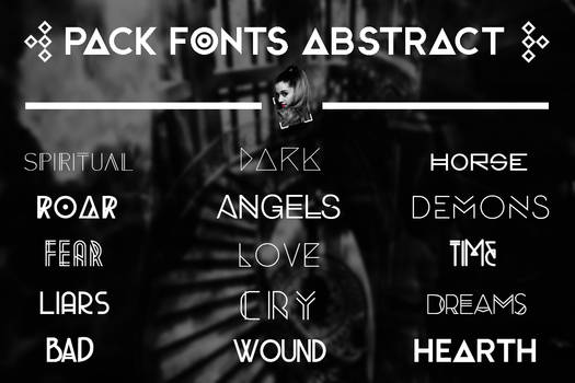 +FONTS || ABSTRACT