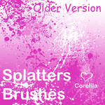Splatters Brushes version 1.5 by corelila