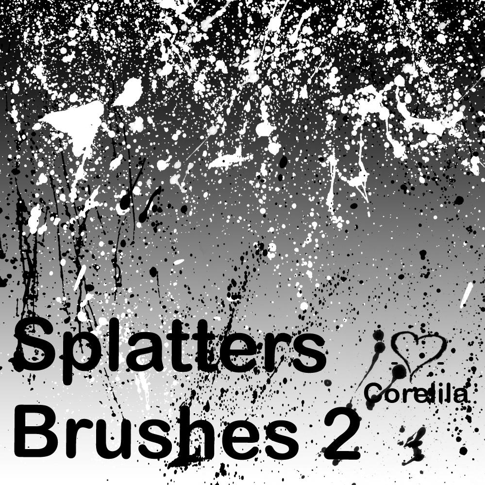 New Splatters Brushes by corelila