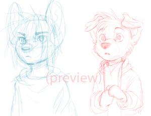 key frames rough animation - Spike and Sam