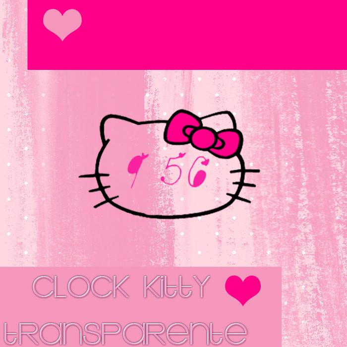 Clock Hello Kitty Transparente by SriitaDeWatt