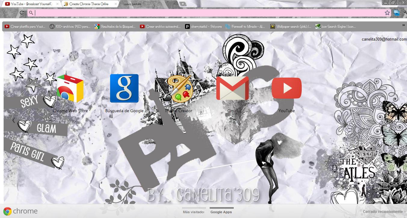 Google chrome themes zebra - Sriitadewatt 49 5 Love Paris Theme Google Chrome By Sriitadewatt