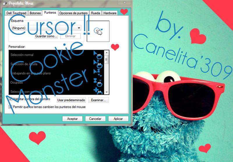 Cursor Cookie Monster by SriitaDeWatt
