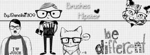 Brushes Hipster By Canelita309 by SriitaDeWatt