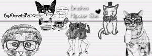 Brushes Hipster Cats By Canelita309