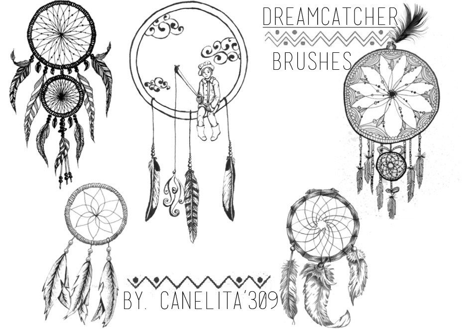 Brushes Dreamcatcher By Canelita309