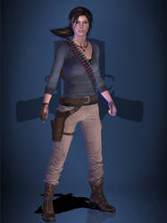 Lara Croft (Gray Henley) [RESIZED] by CombatClone