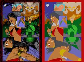 Dawn and Vampirella #1 page 3 - Flats by Hellica-Ordo