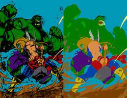 Hulk Smashem by Joe Madureira - Flats by Hellica-Ordo