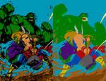 Hulk Smashem by Joe Madureira - Flats