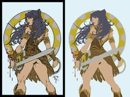 Xena Warrior Princess by Paolo Pantalena - Flats by Hellica-Ordo
