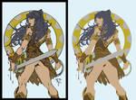 Xena Warrior Princess by Paolo Pantalena - Flats