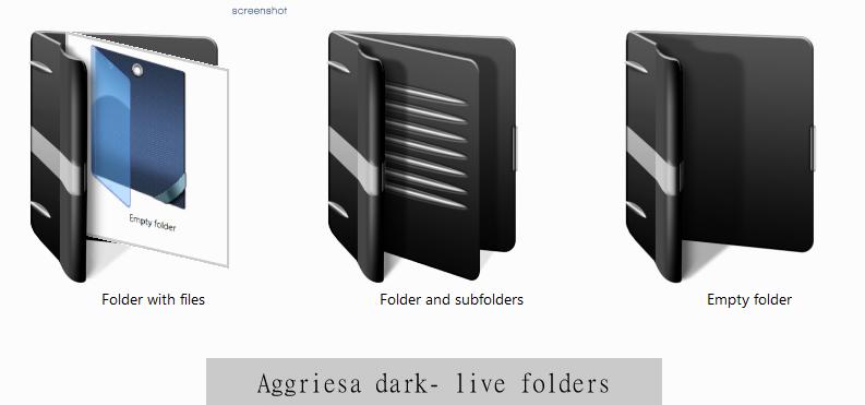 Aggriesa dark- live folders by tchiro