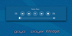 Gaya.player for XWidget.