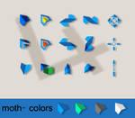 Moth- 4 colors schemes
