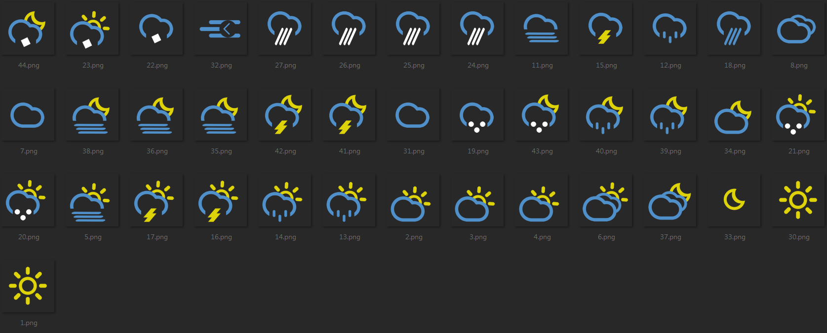 Tchiro 13 9 Weather Icons Xwidget By Tchiro