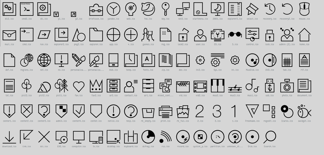 Nominal icon pack