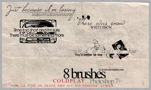 Coldplay lyrics by ayurix