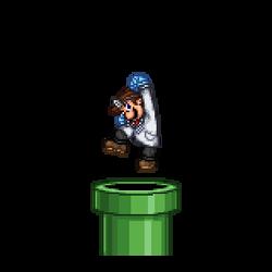 Dr. Mario Pipe Entrance (GIF)