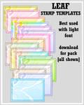 Leaf Stamp Templates