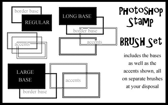 Photoshop Stamp Brushset by AssClownFish