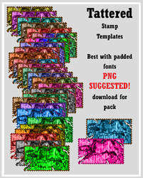 Tattered Stamp Templates by AssClownFish