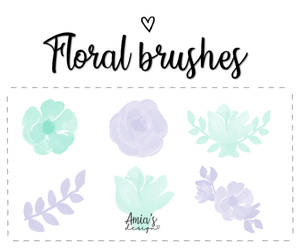 Floral brushes by Amia's design