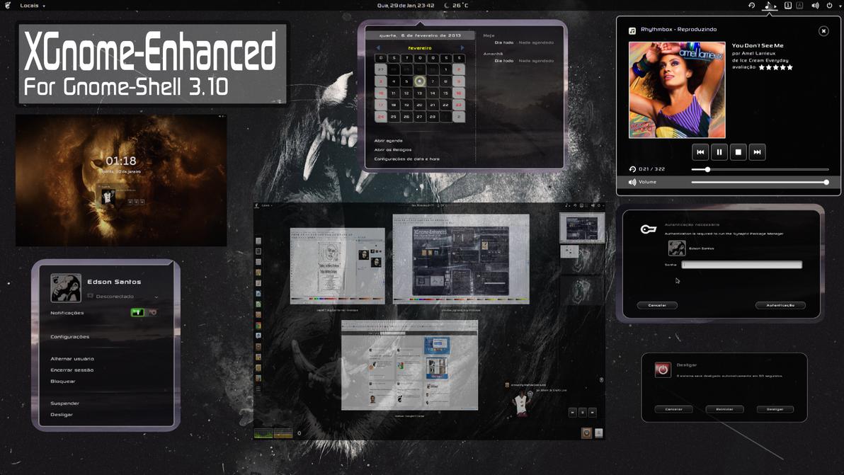 XGnome Enhanced 3.10 by xterminador