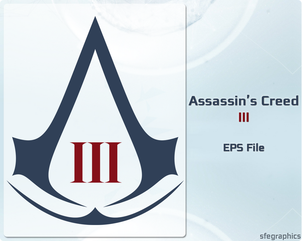 01. Assassin's Creed III Logo by sfegraphics