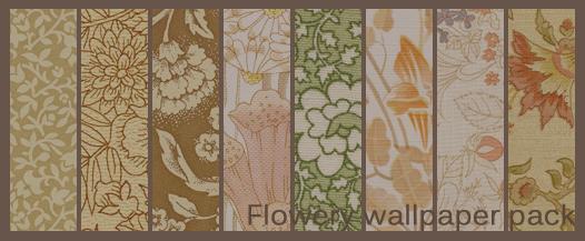 Flowery wallpaper texture pack