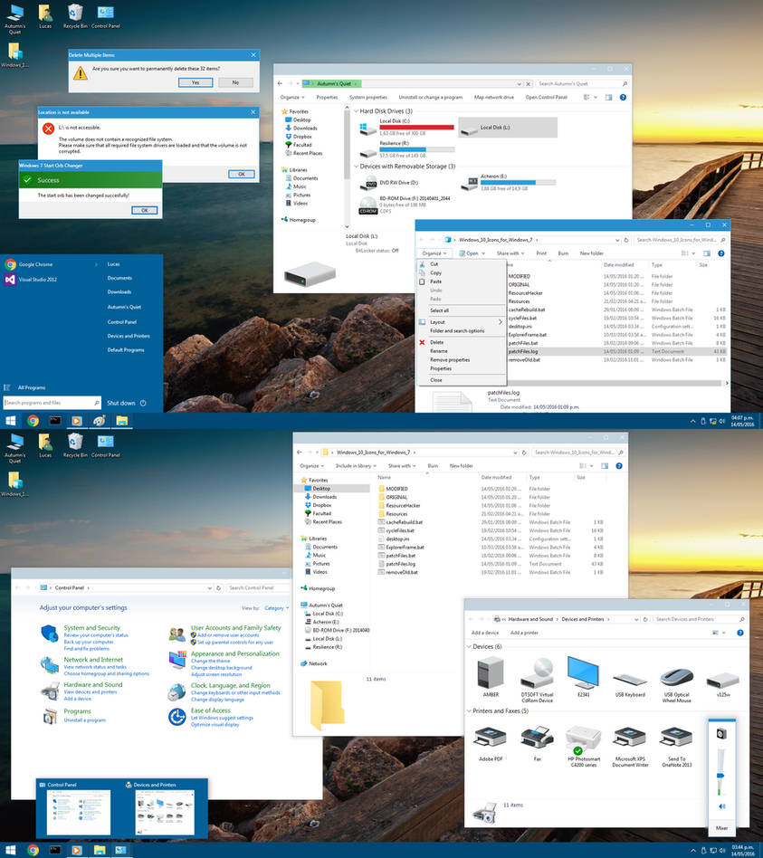 Windows 10 Icon Pack for Windows 7 by Undre4m on DeviantArt