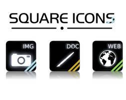 SQUARE ICONS _preview_ by Mandarancio