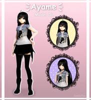 [MMD]  Ayame  [ Model dl ] by Kawaii-Loli-Desu